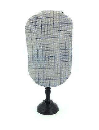 Grey blue printed stoma bag cover Polar Moon
