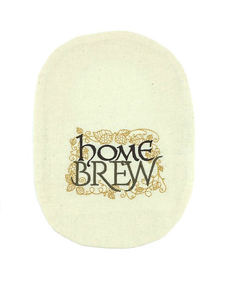 Oatmeal cotton embroidered  Home Brew stoma bag cover Polar Moon