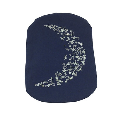 Stoma Bag Cover With Embroidered and Crystalled Crescent Moon