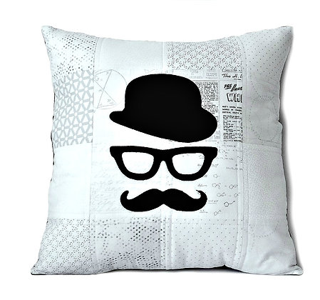 White City Gent Quilted Cushion Cover