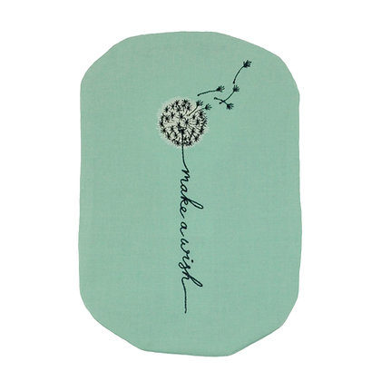 Mint green stoma embroidered bag cover Polar Moon