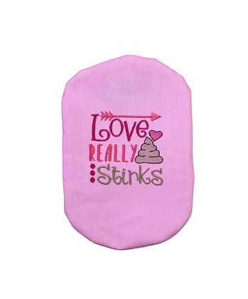Stoma Bag Cover,  Love Really Stinks Design, Valentines