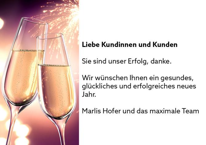 Frohes neues Jahr wünschen wir