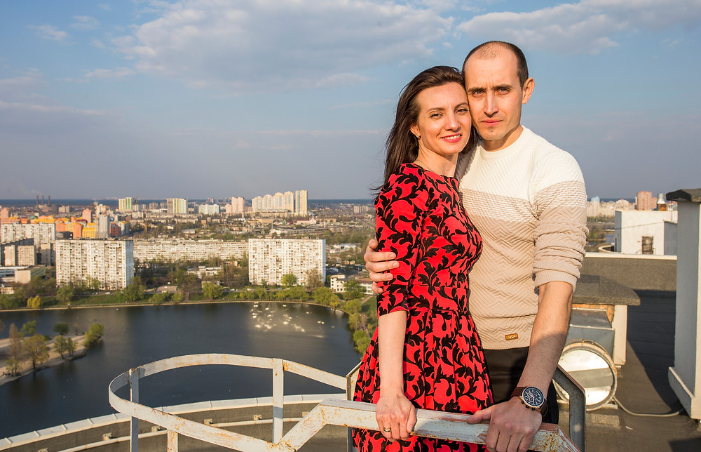 свидание на крыше, Киев