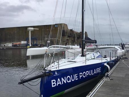 Le Figaro 3 du Team Banque Populaire à l'eau