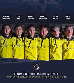 L'équipage de la Fastnet Race et du Trophée Jules Verne 2021-2022