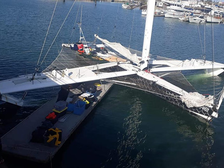 L'Hydroptère à bon port