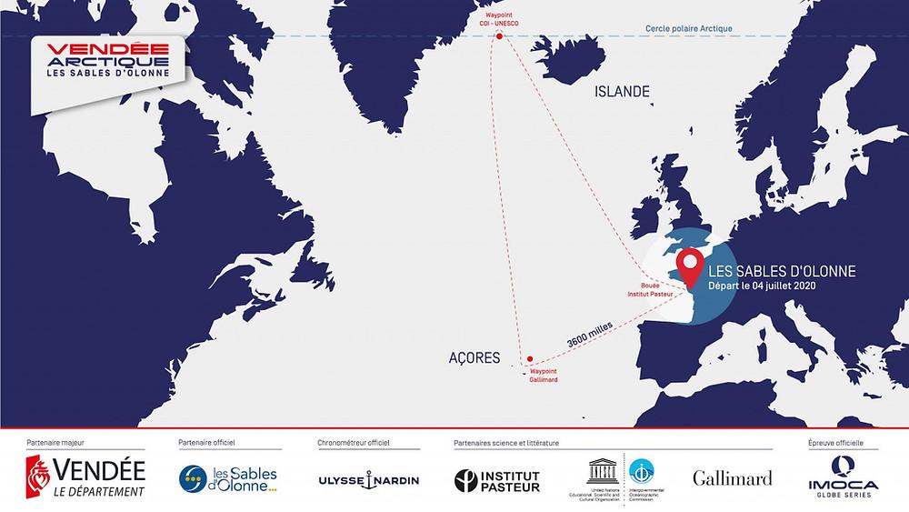 Un triangle dans l'Atlantique Nord, des glaces et une distance de transat à 4 mois du départ du Vendée Globe