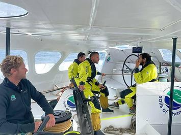 Un équipage au sec dans la nouvelle cellule de manoeuvres