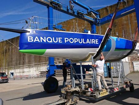 Banque Populaire remis à l'eau à Lorient