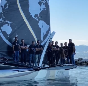 Spindrift racing baptise son TF35