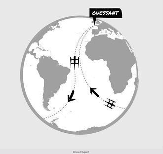 Parcours du Tour du Monde à l'envers