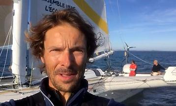 Romain Pilliard et son équipage en route
