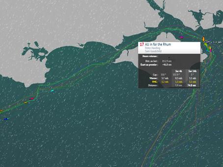La flotte coupée en deux par le Solent