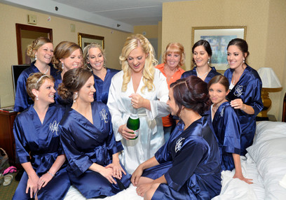 Bridal Preparations with Bridesmaids