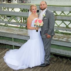 Bride and Groom Scenic Portrait