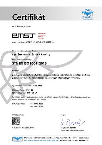 iso 9001 certifikát