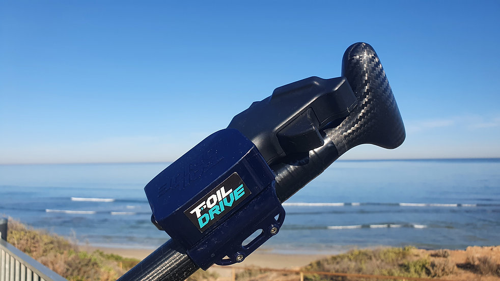 Included Foil Drive controller SUP paddle mount