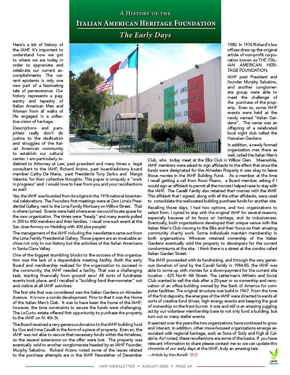 Ken's IAHF history Aug. 2020 news. pg 24