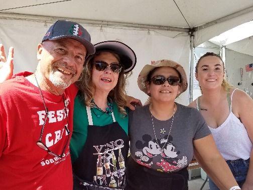 Festa Volunteers Donate