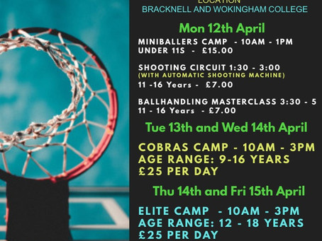 EASTER HOLIDAY BASKETBALL CAMPS