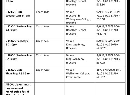 AMENDED AUTUMN 20 SCHEDULE & COSTS