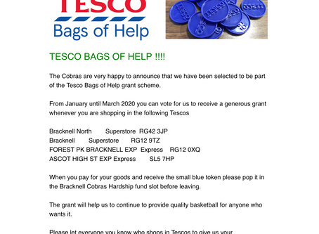 BAGS OF HELP FOR YOUR COBRAS WHEN YOU SHOP AT TESCO