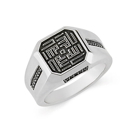 Motiffed Solid Sterling Silver Mens Ring