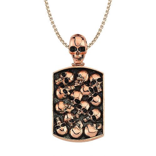 Skull Sterling Silver Mens Necklace