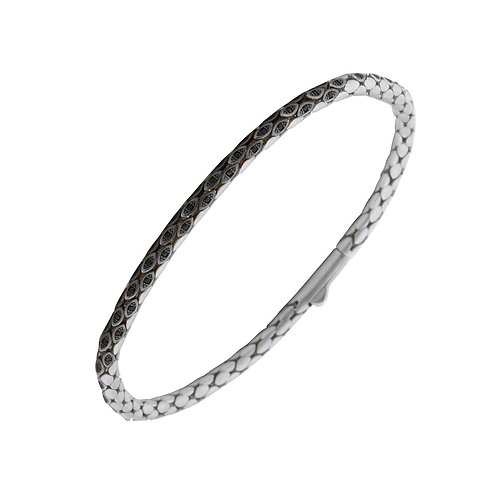 Classic 3.5mm Snake Sterling Silver Mens Bracelet