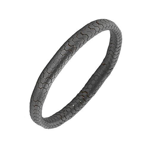 Wide Snake Sterling Silver Mens Bracelet