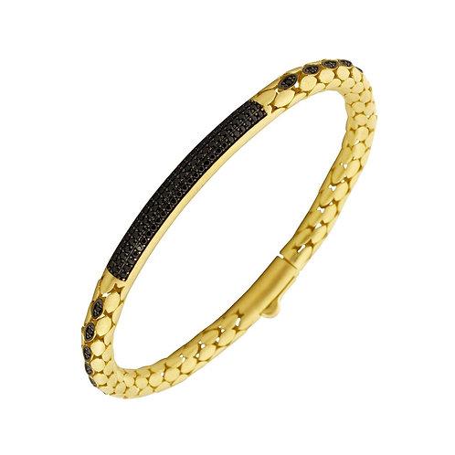 Classic 5.5mm Snake Sterling Silver Mens Bracelet