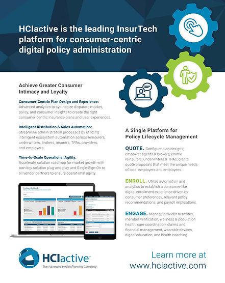 HCIactive Insurance Platform Overview Br