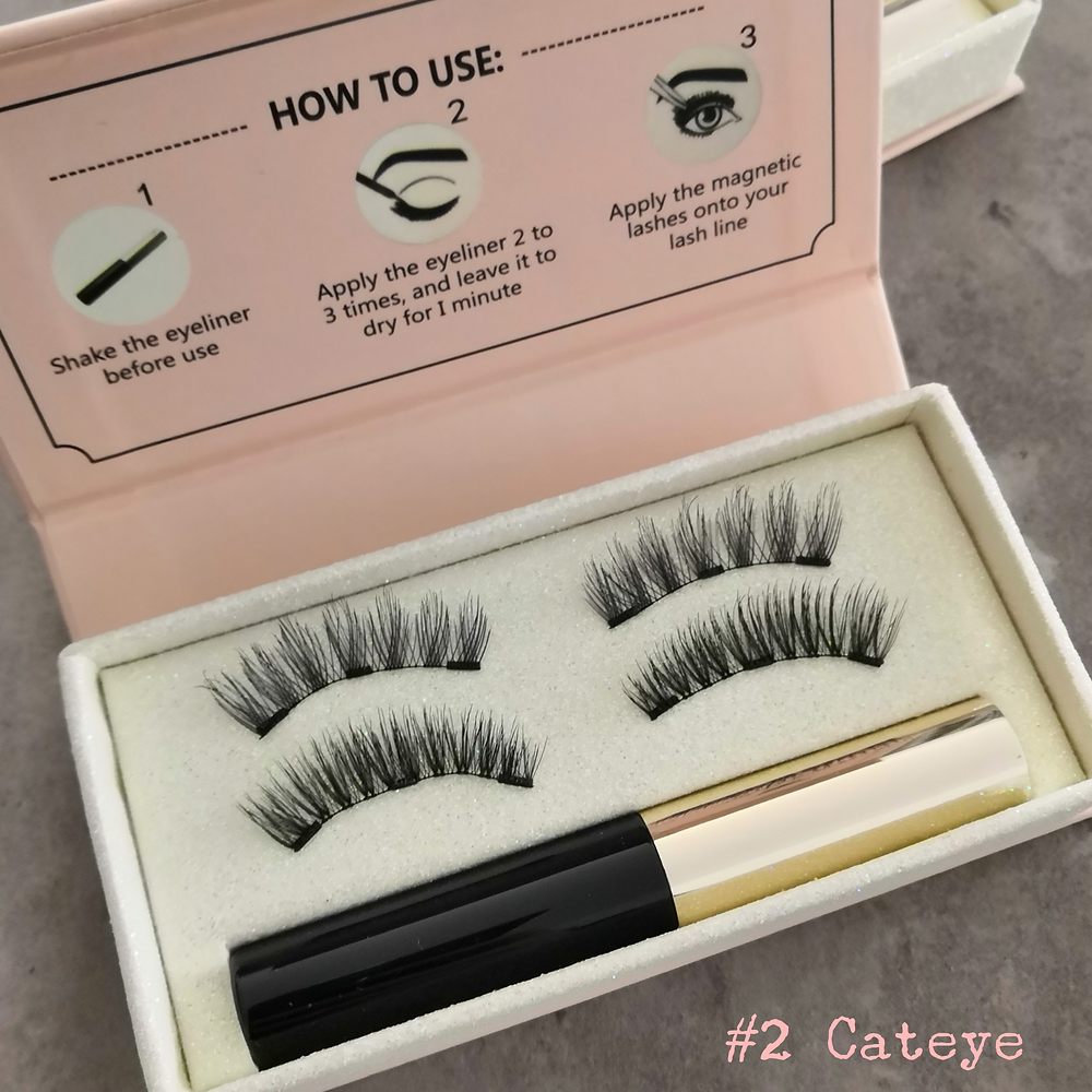 Cerise magnetic lashes