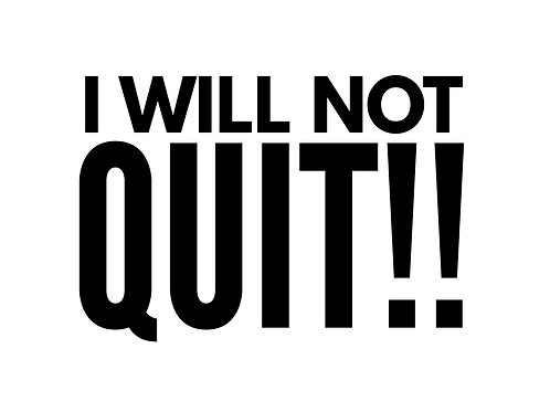 03-08-20: I Will Not Quit - 8th Declaration