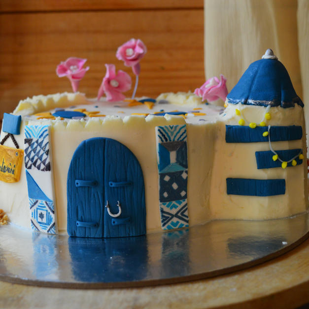 Greek Castle Cake