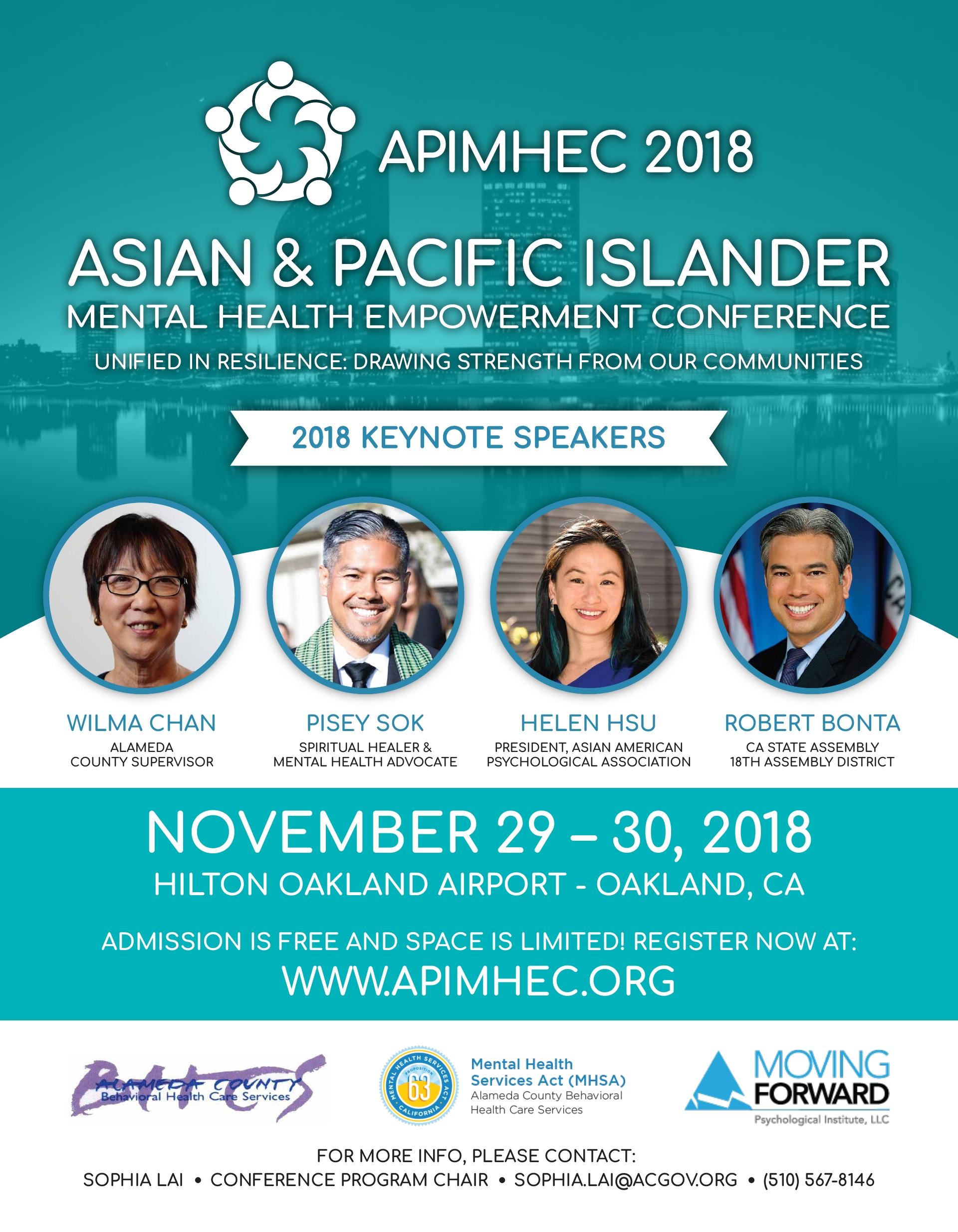 2018 APIMHEC Flyer