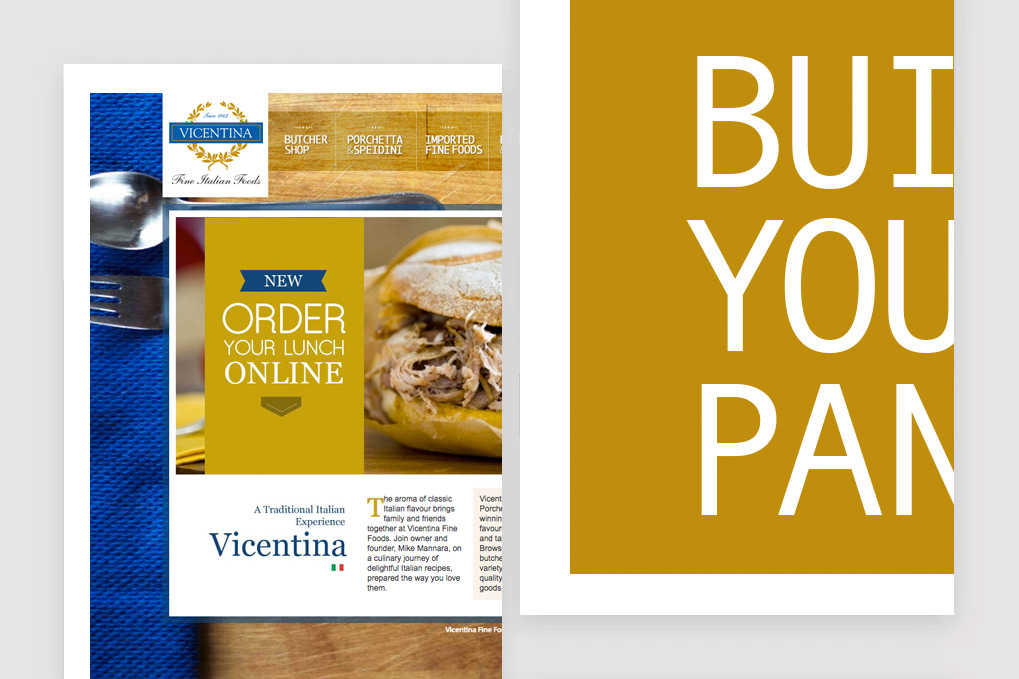 Vicentina Fine Foods Website & Menu