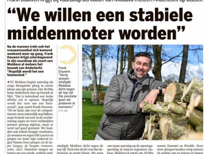 Hoofdtrainer in de Gazet van Antwerpen