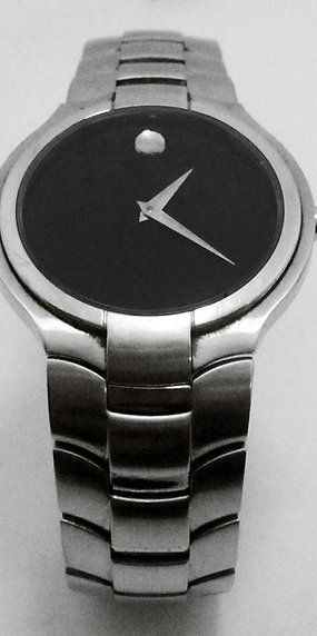 MOVADO PORTICO Black Dial Sapphire Crystal Watch