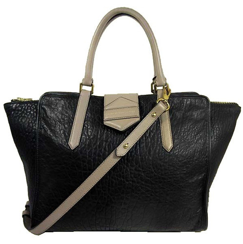 cdc2fe953 Marc Jacobs Flipping Out Black Leather Shoulder Tote