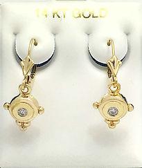 Yellow Gold Diamonds Earrings