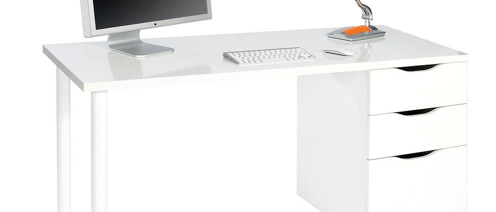Escritorio con 3 cajones en color Artik White