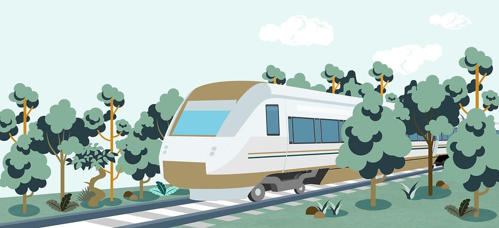 2020 Fondo-tren-selva. Ilustración. Recuperado de https://www.trenmaya.gob.mx/