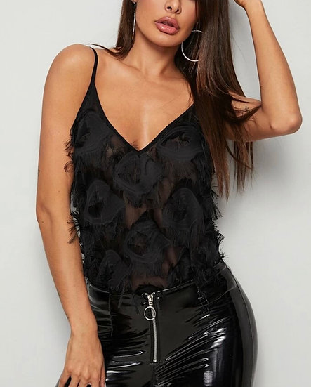 Fray Fringe Solid Cami Top