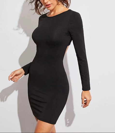 Crisscross Open Back Bodycon Dress