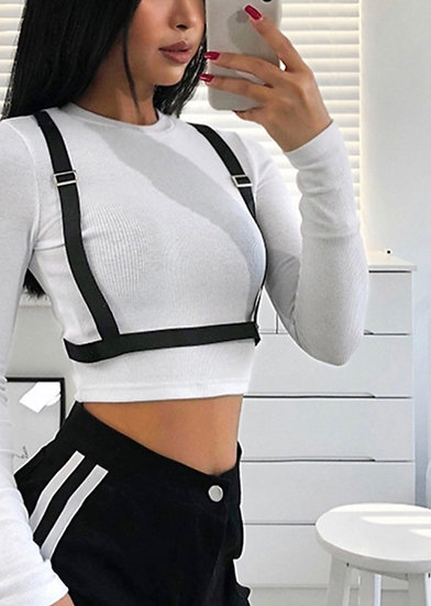 Strap white t-shirt