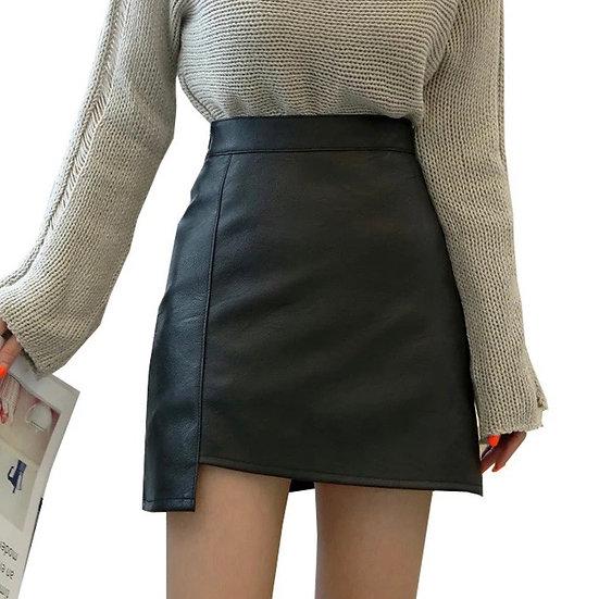 Mini Learher  Skirt