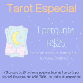 Tarot Especial: Perguntas Avulsas ao Tarot