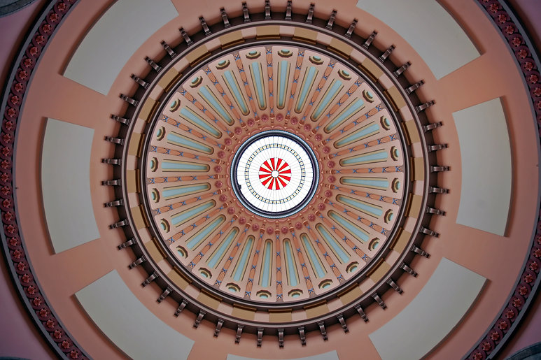The Ohio Statehouse Rotunda Dome with sk